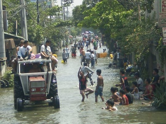 Flooding in the coastal communities