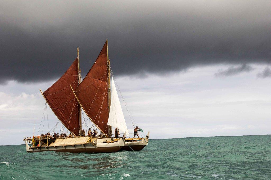 Hokulea on route to UN Conf in Samoa - Oiwi TV