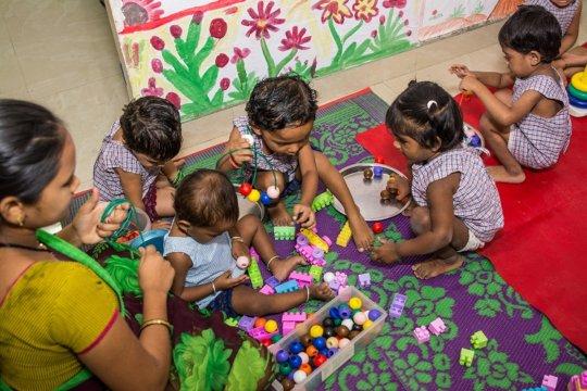 Creche children during an activity