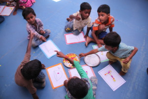 Art & Craft session in preschool section