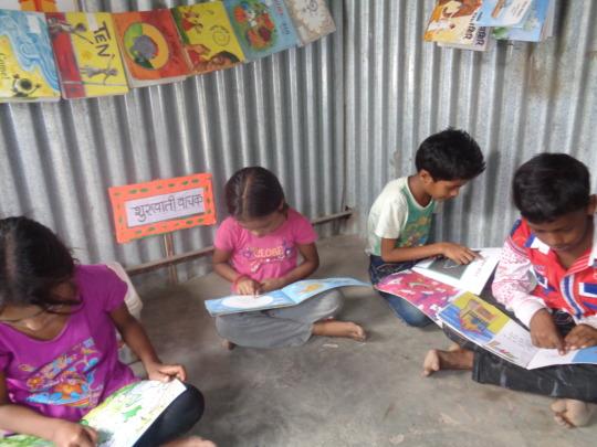 Children reading books!