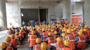Lokdoot(street play) for construction site workers