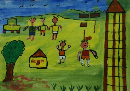Gurfan,9 year old depicted story through painting,