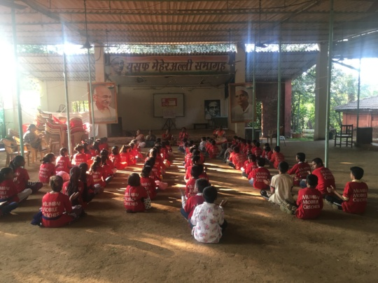 Children at Morning Assembly during Annual Camp !