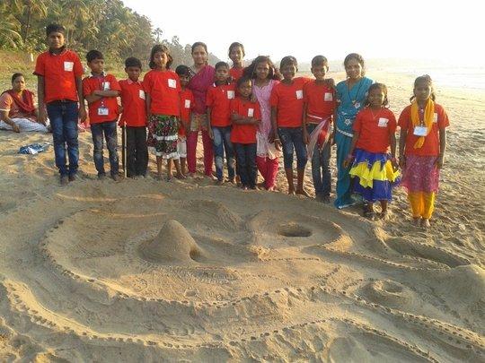 Our little sand castle!