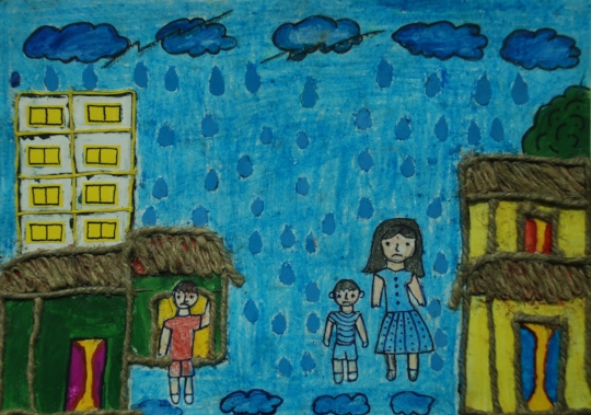 Saheli 13 year painted how MMC provides a safety!