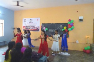 Girls dancing at cultural program