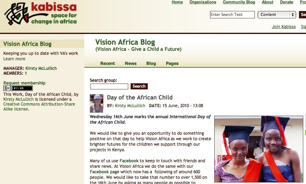 Help Sustain The Kabissa Network (2011)