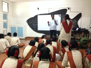 Suresh answers a student