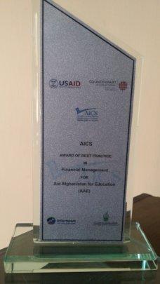 Afghan Institute for Civil Society award