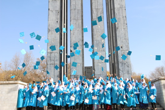 Graduates in Kabul celebrating success