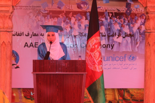 Student speaker at graduation