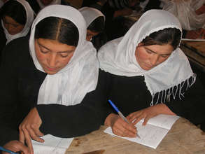 Women studying hard