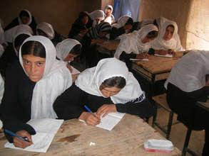 Hopeful students, studying hard