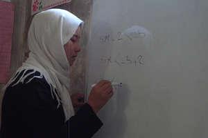 Practicing math in Mazar