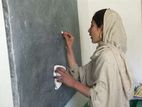Student at a chalkboard