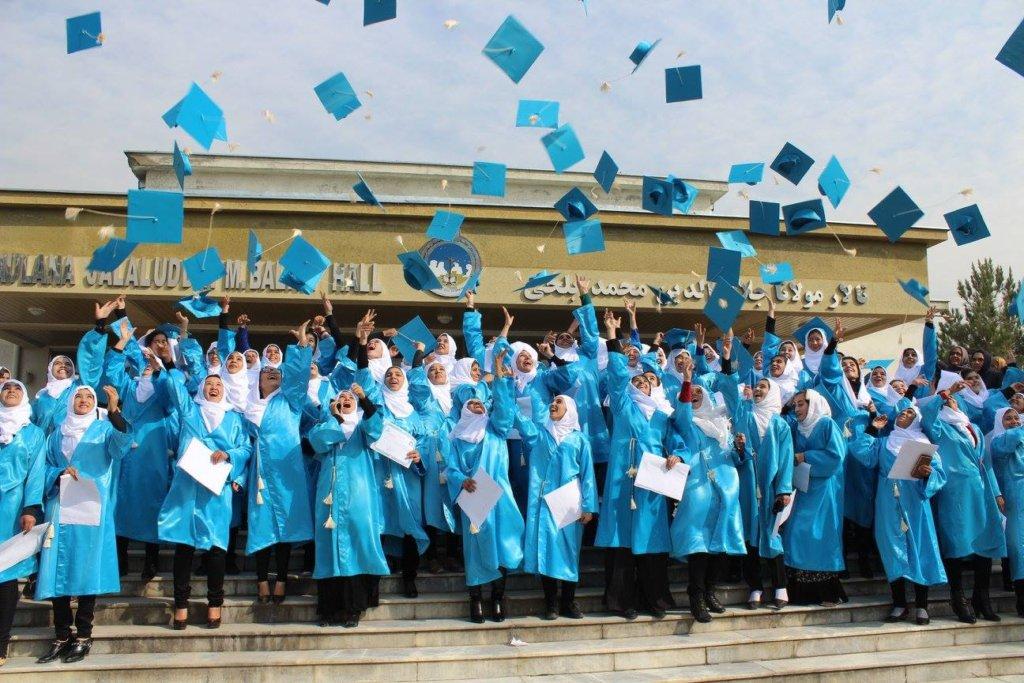 The graduates celebrating!