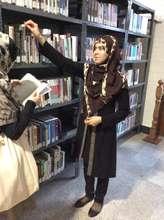 Hamida at the AUAF library