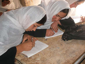 Women studying hard in Afghanistan
