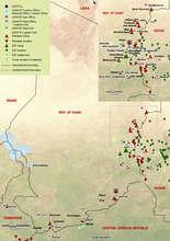 Map of Darfur Refugee Camps