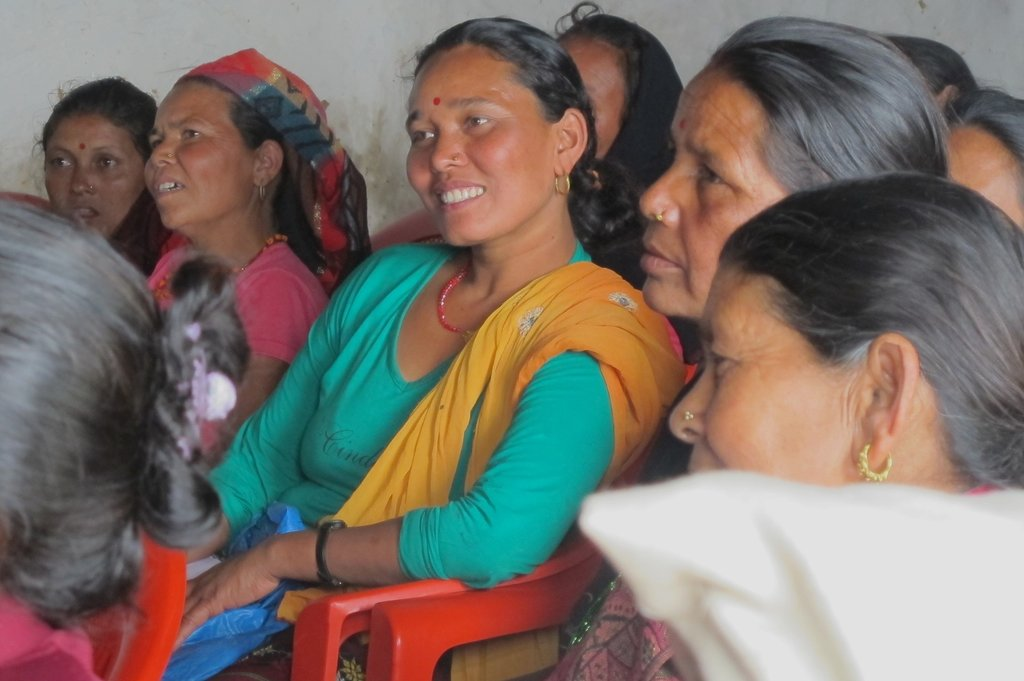 Parbati listening at the Tanglichowk Workshop
