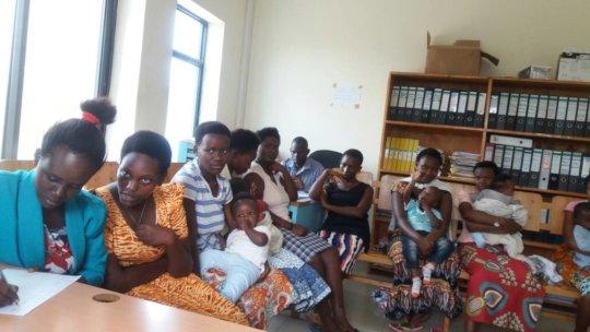 The girls beginning at NDASHOBOYE in Rwanda