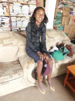 Caroline, studying to be a teacher in Kenya