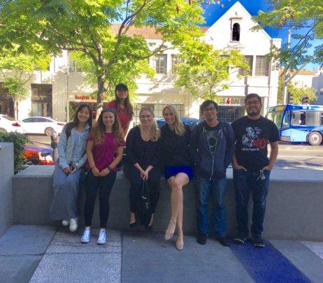 SMC Students and Safi Life Executive Director