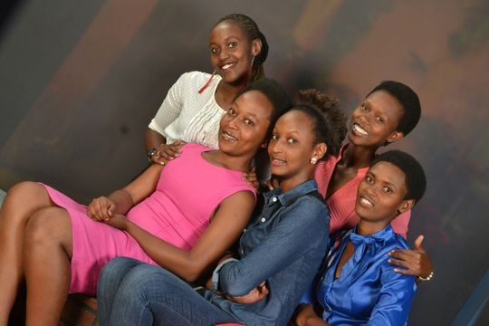 L to R: Fredine, Florence, Bam, Safi, Esther