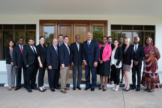 Lunch with President Kagame