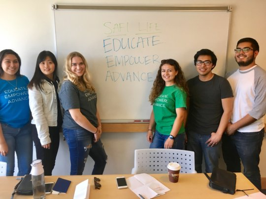 SMC student ambassadors for Safi Life