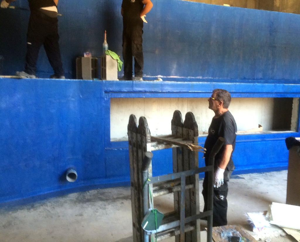 Waterproofing and sealing the tank interiors