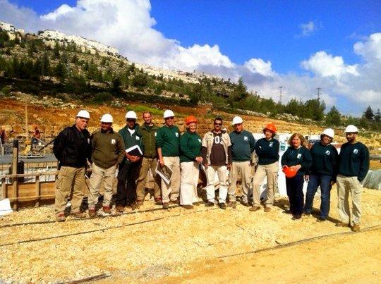Our Management Team on a construction site visit