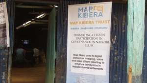 Map Kibera sign for election monitoring