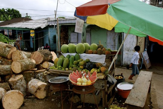 Local fruit being sold in Buea.