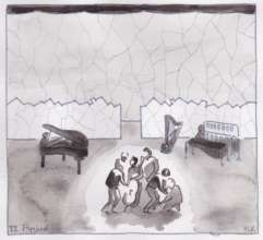 Set Designer's sketch for Flygblad