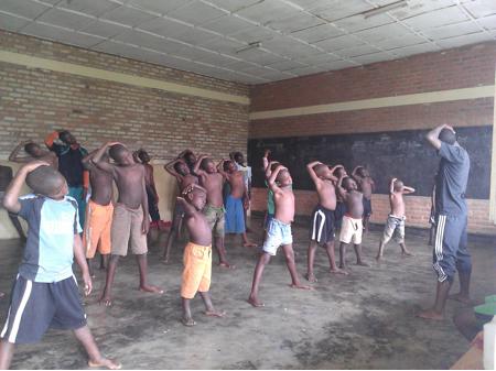 Dance Class for Street Children Before IT Training