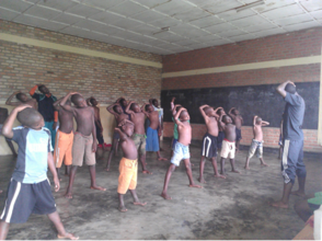 Dance Class for Street Children Before IT Training