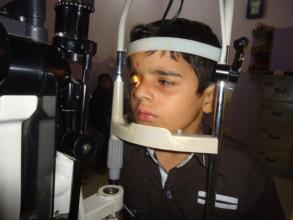 Ali's eye examination