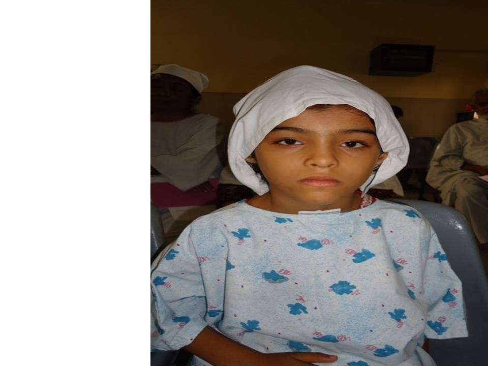 Laiba - Waiting for her surgery