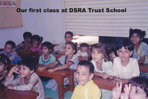 Our first calss at DSRA Trust School