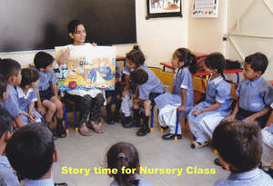 Story time for Nursery Class