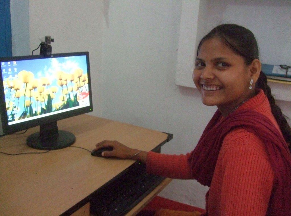 At my computer