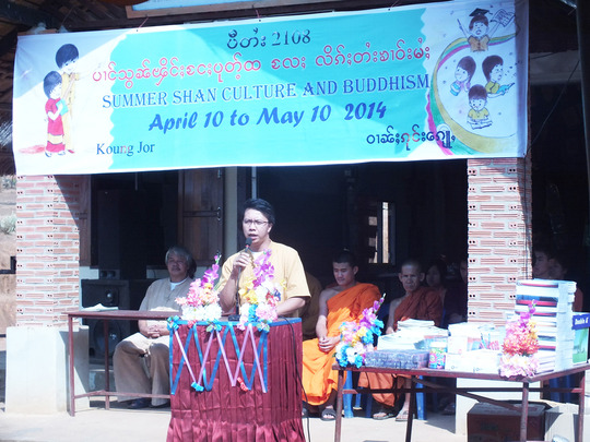 Sai Oo at the Shan Culture workshop he organises