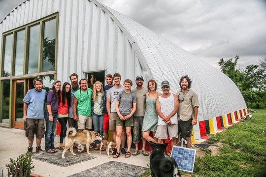Volunteers love the Sacred Earth Lodge!
