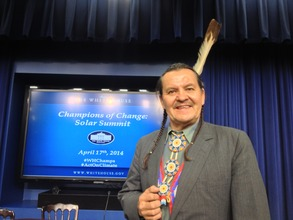 Henry Red Cloud at the White House
