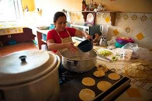 Ana prepares our meals