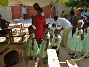 Celebrating achievement at the orphanage