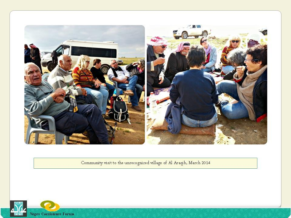 Community Visit to Al-Araqib in March 2014