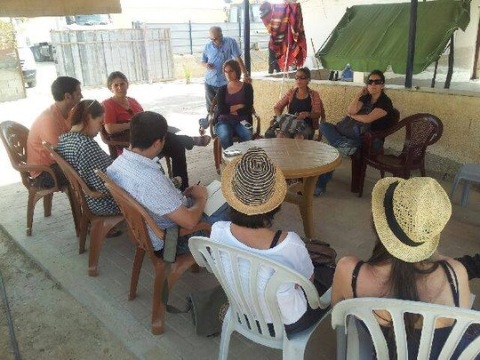 Hebrew bloggers share writing ideas after tour